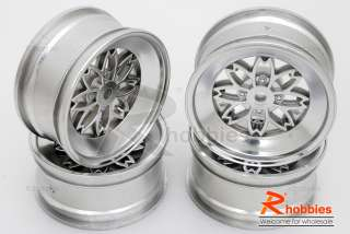 rc car vintage sakura fr 3 offset 26mm chrome wheel rim set