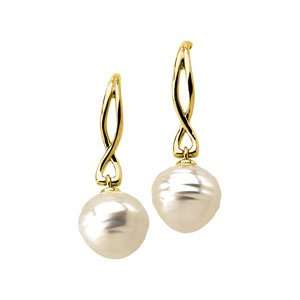 Designer Jewelry Gift 14K Yellow Gold South Sea Cultured Pearl