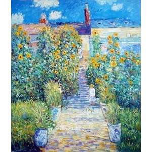 and Oil Paintings: Artists Garden at Vetheuil Oil Painting Canvas Art