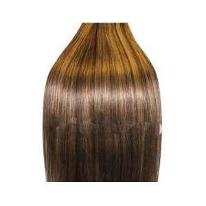 Brown/Strawberry Blonde (Col 4/27).Full Head Human Hair Weav Beauty