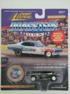 JOHNNY LIGHTNING DRAGSTERS U.S.A 71 BLUE MAX GREEN