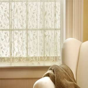 63 Long White Bristol Garden Lace Curtain Panel