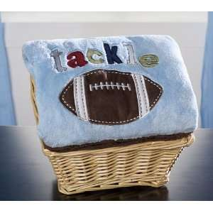 All Sports Nursery Embroidered Boa Blanket Baby