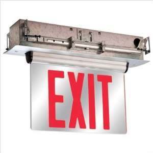 Face Universal Mount Red LED Edge Lit Exit Sign