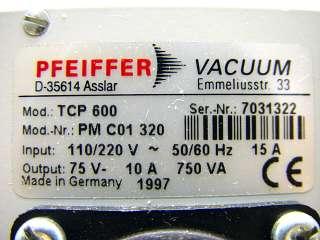 Pfeiffer Balzers Vacuum TCP600 Turbo Pump Controller