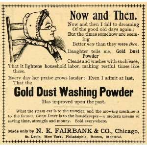 1893 Ad N. K. Fairbank Gold Dust Washing Powder Soap