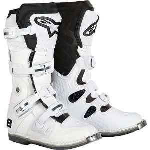 Alpinestars Tech 8 Mens Motocross Motorcycle Boots   White / Size 13