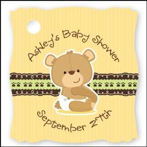 Baby Teddy Bear   20 Personalized Baby Shower Die Cut Card