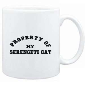 Mug White  PROPERTY OF MY Serengeti  Cats Sports