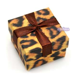 Stylish Leopard Print Stain Hard Paper Gift Box Earring Ring Necklace