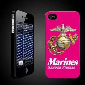 Military iPhone Case Designs Marines Semper Fidelis (Pink