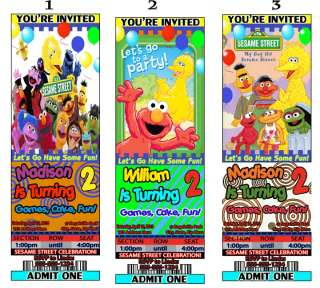 Sesame Street & Elmo Birthday Party Invitations Favors