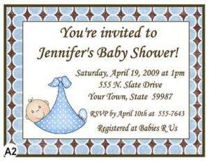 MODERN BABY BOY BABY SHOWER INVITATIONS & ENV