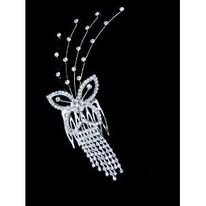 Bridal Wedding Prom Crystal Rhinestone Hair Comb 05