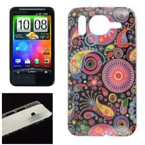 Gino Colorful Printed IMD Plastic Cover for HTC Desire HD