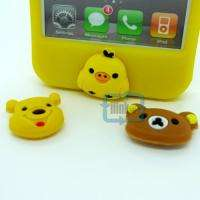 Cute Hello kitty Bear Rabbit Rubber Soft Case For iPhone 4 4G 4S+3D