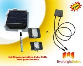 100 Mono 6x6 Solar Cells DIY Panel Kit + Junction Box