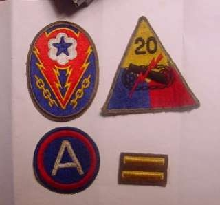 WWII COMBAT ENGINEERS GROUPING MEDALS PATCHES PHOTOS STERLING ID