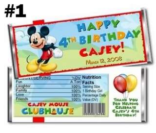Mickey Mouse Clubhouse Candy Bar Wrappers Party Favors