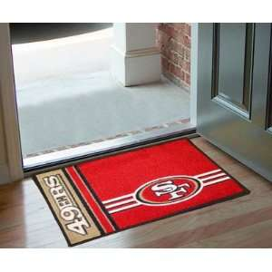 San Francisco 49ers Logo Chromo Jet Printed Rectangular