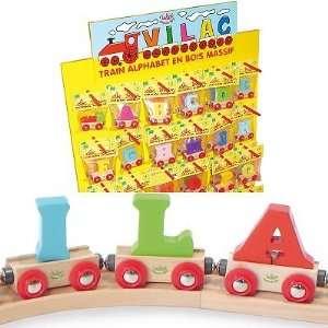 Vilac   Letter Wooden Wagon   M Toys & Games
