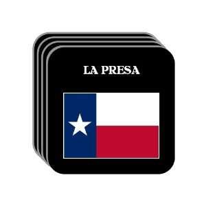 US State Flag   LA PRESA, Texas (TX) Set of 4 Mini Mousepad Coasters