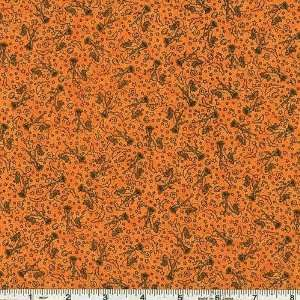 45 Wide Scary Night Witches Orange Fabric By The Yard