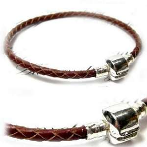 ) One Brown High Quality Real Leather Bracelet fit
