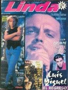 LUIS MIGUEL Magazine + Poster Argentina 1996