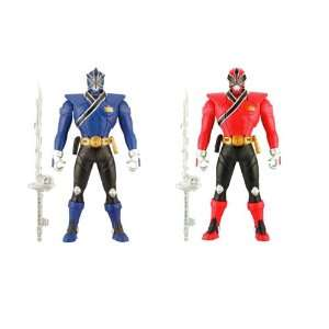Power Rangers Samurai Red 6.5 Morphin Action Rangers Set of 2 Red