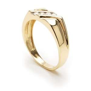 New Mens Genuine Diamond Ring, Yellow Gold Band Rumors