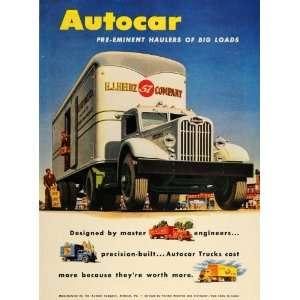 Semi ruck H. J. Heinz 57 Company   Original Prin Ad Home & Kichen