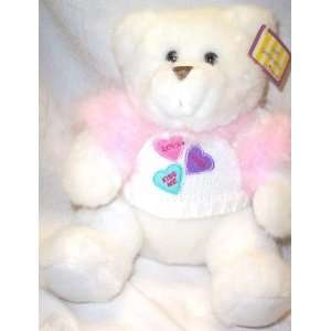 White Valentine Bear Love Hugs Kiss Me 10 Toys & Games