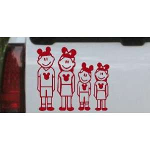 Mickey Mouse Disney 2 Kids Stick Family Stick Family Car Window Wall