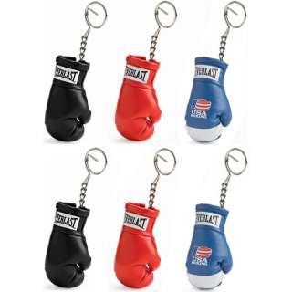 Everlast Boxing Glove Mini Replica Keychain (Set of 6)   2 Black, 2