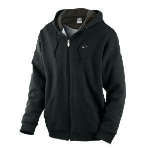 Nike Mens Black Fundamental Full Zip Hoodie Hoody Sports