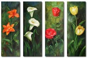 Extra Large! Modern Floral Hand Painted Oil Paintings 64x48 L@@K