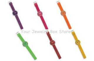 Leather Band Round Face Watch 6 Colors