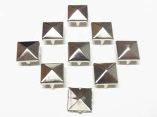 12mm Pyramid Studs Spots Nickel Punk Rock 100pcs