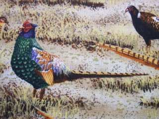 Timeless Treasures Pheasants Hunting Bird Fabric Yard