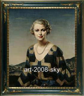 Old Master Art Antique Oil Painting Portrait Noblewoman 30X40
