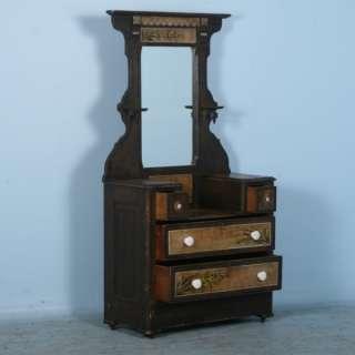 Antique American Painted Vanity/Dresser with Mirror c.1890
