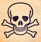 NEW Classic Poison Skull and Cross Bones Rubber Stamp