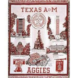 Texas A & M University Aggies NCAA Afghan Throw