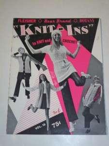Vintage 1969 Fleisher Bear Brand Knit Ins Knitting Crochet Patterns