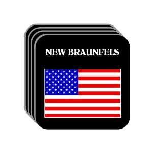 US Flag   New Braunfels, Texas (TX) Set of 4 Mini Mousepad