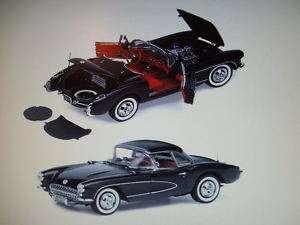 1956 Corvette Fiberglass Die Cast Franklin Mint NRFBNIB