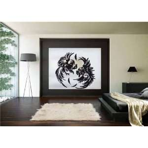 Wall Art Decor Vinyl Decal Sticker ROOSTERS FIGHT