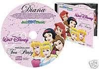 Disney Princess Tea Party   Personalized Childrens CD