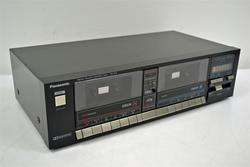 Panasonic Stereo Cassette Deck Dual Tape Player Recorder RS 373